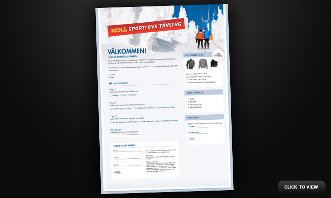 Winter sports campaign for Koll.se