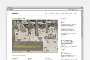 Picture of Redesign of the Ord&Bild site