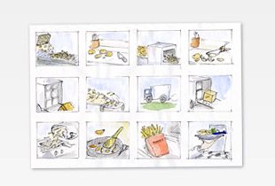 Picture of Storyboards and AD sketches